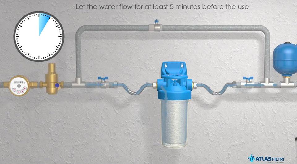 5 دقیقه قبل از استفاده از آب صبر کنید
